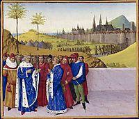 Conversation Between St. Gontran and St. Childebert II, fouquet