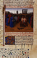 Conviction and punishment supporters of Amaury de Chartres, 1460, fouquet