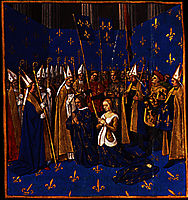 Coronation of Louis VIII and Blanche of Castile at Reims, 1460, fouquet