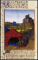 The Death of Bertrand du Geusclin (c.1320-80) at Chateauneuf-de-Randon, 1460, fouquet