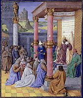 Emperor Cyrus the Great of Persia, who permitted the Hebrews to return to the Holy Land and rebuild God, fouquet