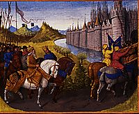 Entry of Louis VII (c.1120-80) King of France and Conrad III (1093-1152) King of Germany into Constantinople during the Crusades, 1147-49, fouquet