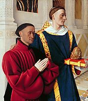 Etienne Chevalier with St. Stephen, c.1454, fouquet