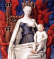 Madonna and Child. Left Panel of Diptych de Melun, c.1450, fouquet