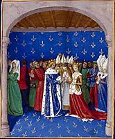 Marriage of Charles IV and Marie of Luxembourg, c.1455, fouquet