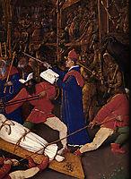 Martyrdom of Saint Apollonia, detail, 1456, fouquet