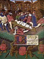 Martyrdom of St. Apollonia, c.1445, fouquet