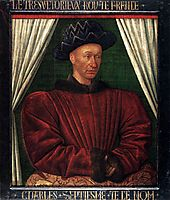 Portrait of Charles VII, King of France, c.1445, fouquet