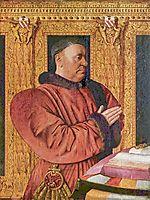 Portrait of Guillaume Jouvenel des Ursins, the Chancellor of Charles VII, c.1460, fouquet