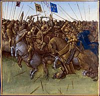 A re-imagination of Louis III and Carloman-s 879 victory over the vikings, fouquet