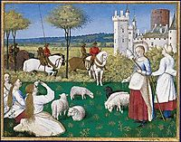 Sainte Marguerite and Olibrius, also known as Marguerite Keeping Sheep, fouquet