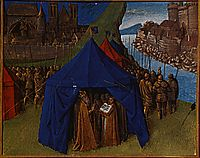 St. Jacques appears to Charlemagne, 1460, fouquet