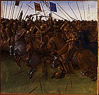 Victory of Louis III and Carloman on the Normans, 1460, fouquet