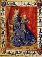 Virgin And Child Enthroned, fouquet