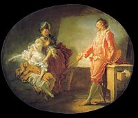 The beginnings of model, fragonard