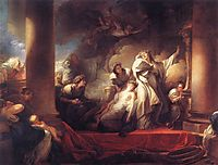 Coresus Sacrificing himselt to Save Callirhoe, 1765, fragonard