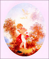 Cupid Between The Roses, fragonard