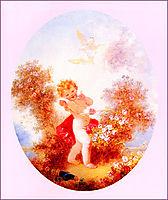 Cupid Between The Roses, fragonard