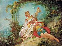 The Happy Lovers, 1765, fragonard