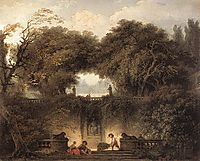 Le petit parc, The Little Park, 1764-1765, fragonard