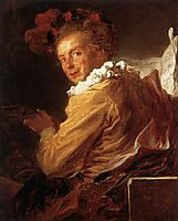 Man Playing an Instrument, The Music, 1769, fragonard