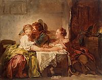The Prize of a Kiss, 1760, fragonard