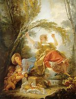 The See saw , 1750, fragonard