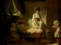 Visit to the nurse, c.1775, fragonard