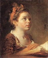 A Young Scholar, 1775-1778, fragonard
