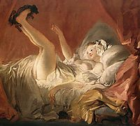 Young Woman Playing with a Dog, 1765-1772, fragonard