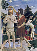 Baptism of Christ (detail), 1450, francesca
