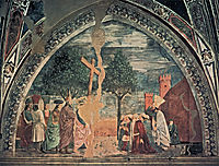 Exaltation of the Cross: Heraclius enters Jerusalem with the Cross, 1464, francesca