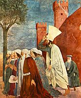 Heraclius Restores the Cross to Jerusalem, 1464, francesca