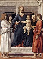 Madonna and Child Attended by Angels, francesca