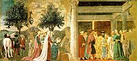 Procession of the Queen of Sheba and Meeting between the Queen of Sheba and King Solomon, 1464, francesca