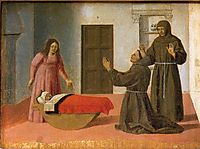 St. Anthony Resurrects a Child, c.1460, francesca