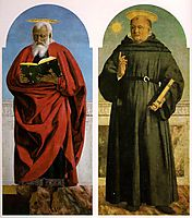 St. John the Evangelist and St. Nicholas of Tolentino, francesca