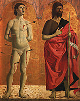 St. Sebastian and John the Baptist, francesca
