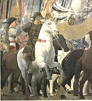 Victory of Constantine at the Battle of the Milvian Bridge, 1464, francesca