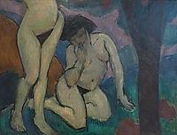 Nudes in landscape, 1910, fresnaye