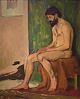 Seated bearded man , fresnaye