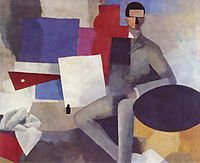 Seated man, 1914, fresnaye