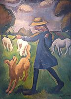 The shepherdess. Spring Marie Child , fresnaye