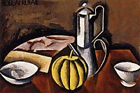 Still Life with Coffee Pot and Melon, c.1911, fresnaye