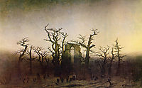 The Abbey in the Oakwood, 1810, friedrich