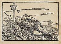 Boy sleeping on a grave, friedrich