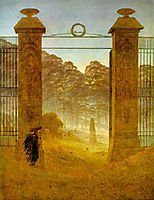 Cemetery at Dusk, 1824-1826, friedrich