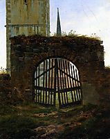The Cemetery Gate, The Churchyard, 1825-1830, friedrich