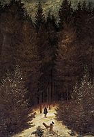 The Chasseur in the Forest, 1814, friedrich