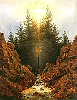 Cross in the forrest, friedrich